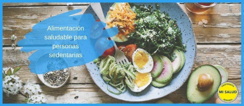 alimentación saludable y personas sedentarias